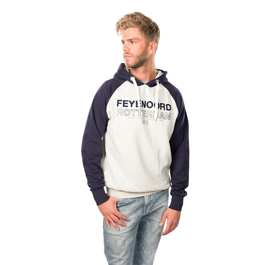 Feyenoord Hooded Sweater Raglan Flock, Heren W16