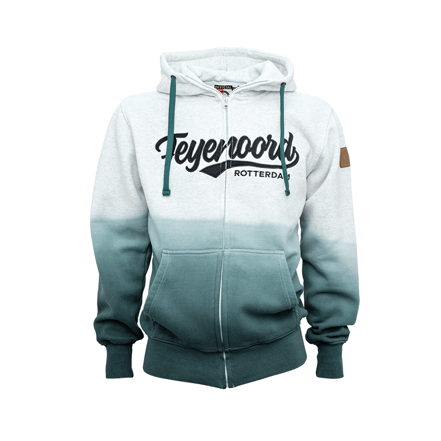 Feyenoord Hooded Sweater Full Zip Dip Dyed, Boys