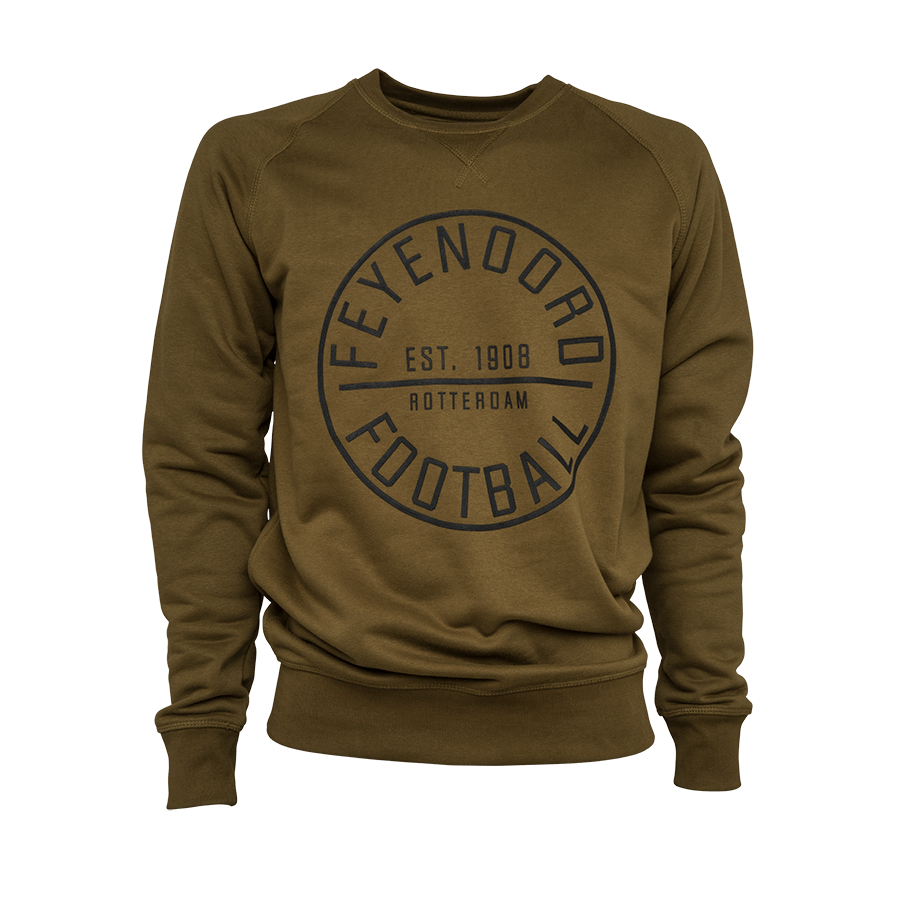Feyenoord Sweater Football, groen, Heren