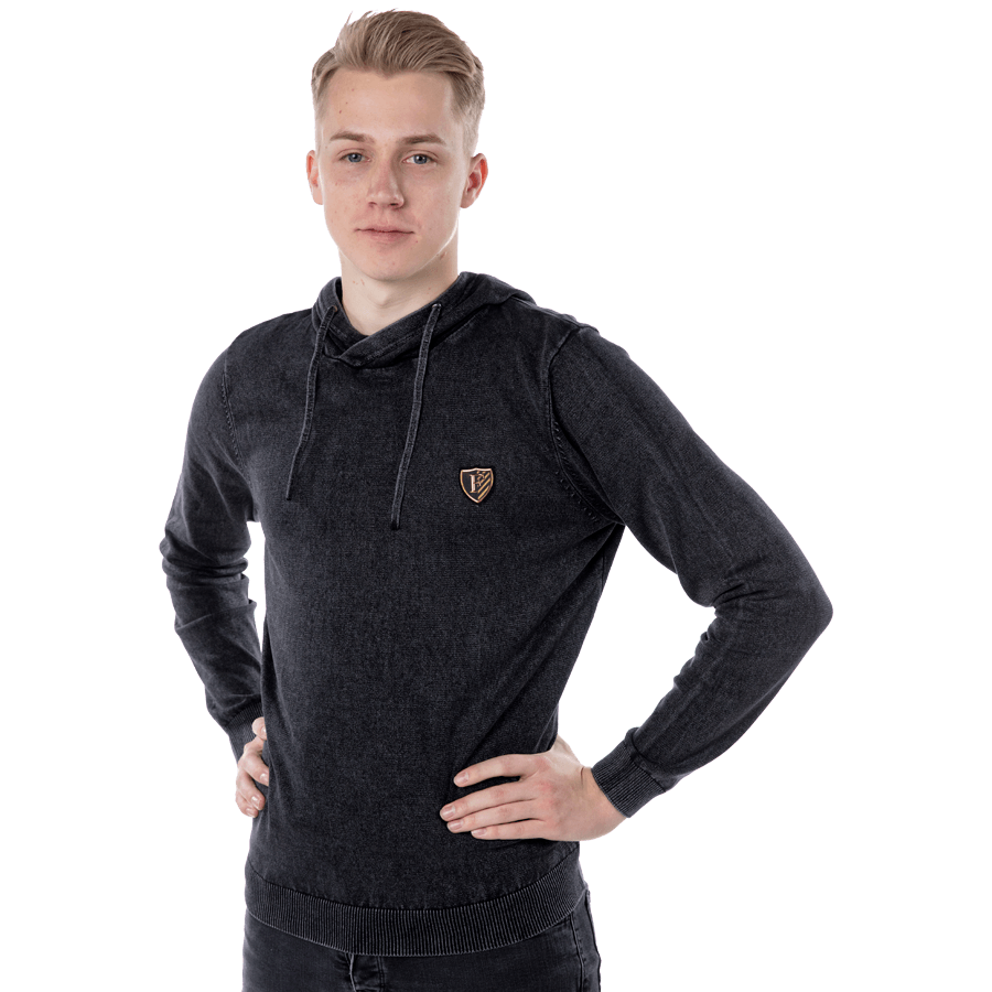 Feyenoord Hooded Sweater Wash, zwart, Heren, S18
