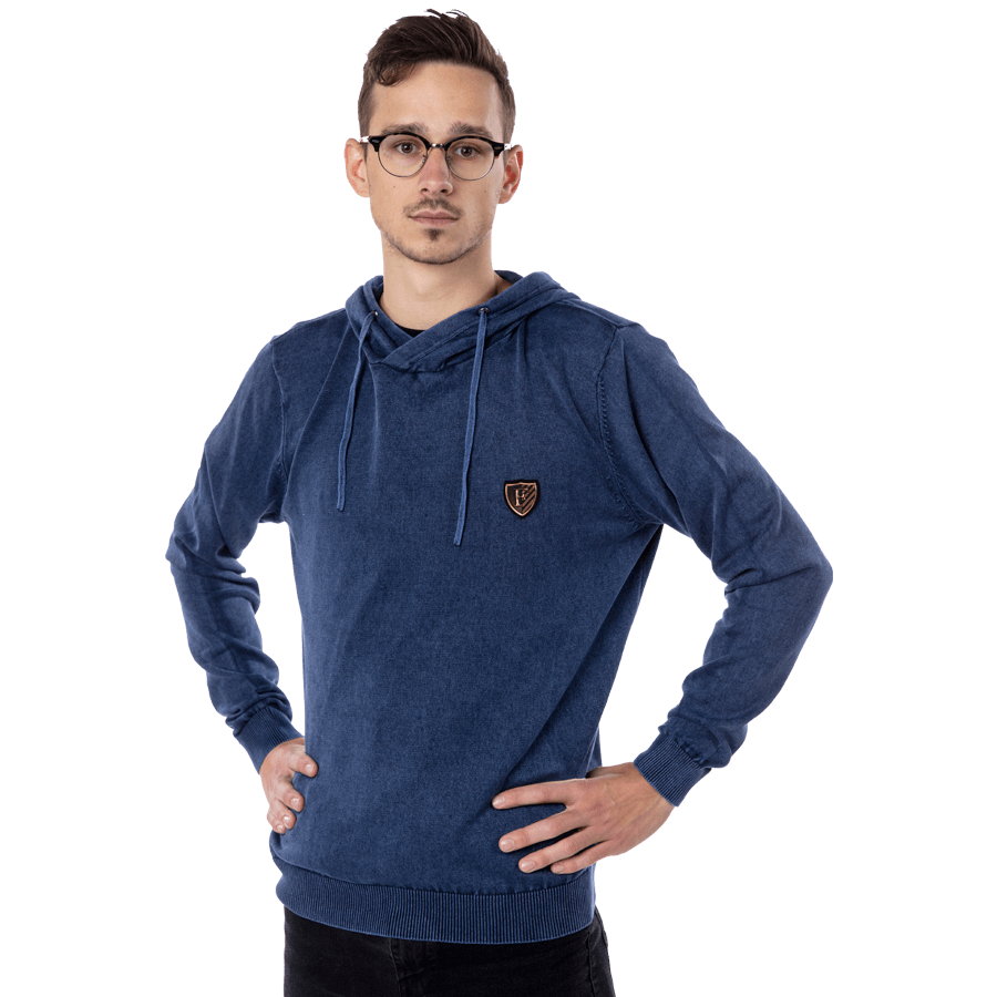 Feyenoord Hooded Sweater Wash, blauw, Heren, S18