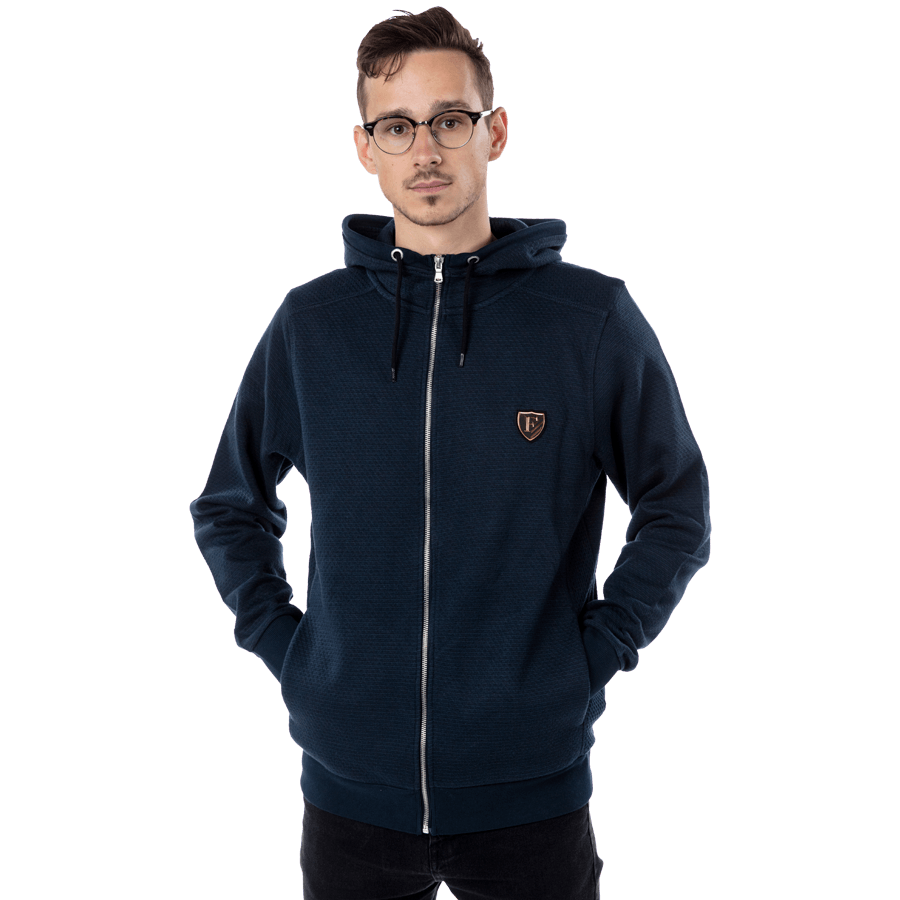 Feyenoord Hooded Sweater Full Zip, blauw, Heren