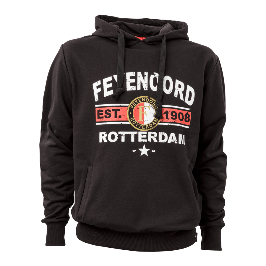 Feyenoord Hooded sweater Fey-est-Ster, zw, boys