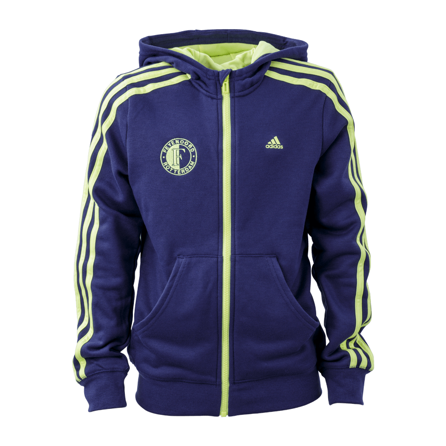 Feyenoord Adidas hooded sweatjacket indigo/yellow