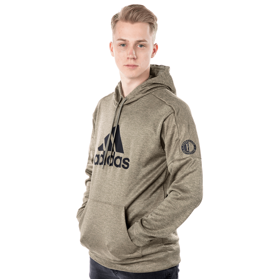 Feyenoord Adidas Hooded Sweater, beige, Heren